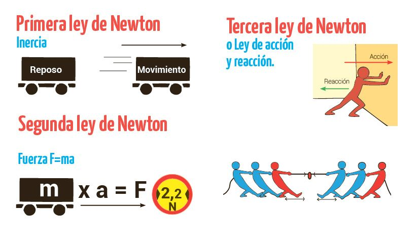 Leyes De Newton Escolar Abc Color